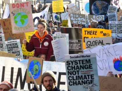 "LONDON, ENGLAND - NOVEMBER 29: Students take part in a ""Fridays for Future"" climate change rally on November 29, 2019 in London, England. The youth strike movement to demand action on climate change started in August 2018, led by the Swedish teenager Greta Thunberg. (Photo by Peter Summers/Getty Images)"