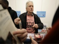 Michael Douglas hits the campaign trail for Bloomberg