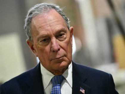 US Democratic Presidential candidate, Mike Bloomberg, looks on while visiting 'Building Momentum', a veteran owned business in Alexandria, Virginia on February 7, 2020. (Photo by Mandel NGAN / AFP) (Photo by MANDEL NGAN/AFP via Getty Images)