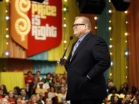"Show host Drew Carey is seen during a taping of ""The Price Is Right"" in Los Angeles on Tuesday, Sept. 9, 2008. The episode airs on Nov. 5, 2008. (AP Photo/Matt Sayles)"