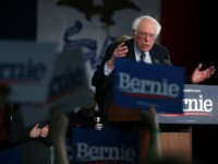 DES MOINES, IOWA - FEBRUARY 03: Democratic presidential candidate Sen. Bernie Sanders (I-VT) addresses supporters during his caucus night watch party on February 03, 2020 in Des Moines, Iowa. Iowa is the first contest in the 2020 presidential nominating process with the candidates then moving on to New Hampshire. (Photo …
