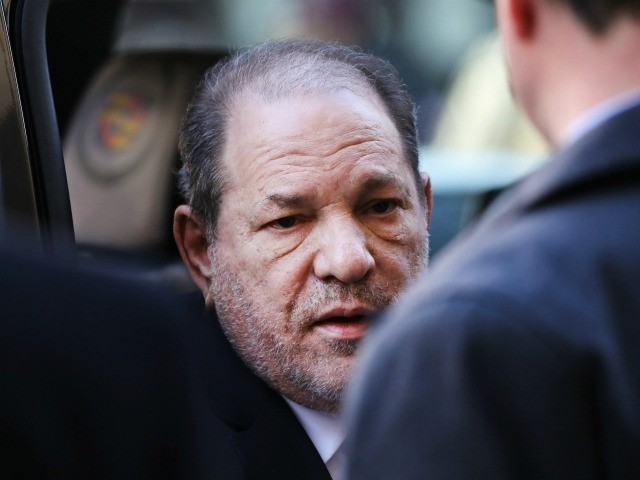 NEW YORK, NEW YORK - FEBRUARY 24: Harvey Weinstein enters a Manhattan court house as a jury continues with deliberations in his trial on February 24, 2020 in New York City. On Friday the judge asked the jury to keep deliberating after they announced that they are deadlocked on the …