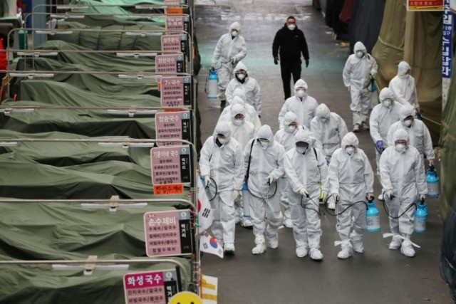 South Korea's virus alert level has been raised to 'red'