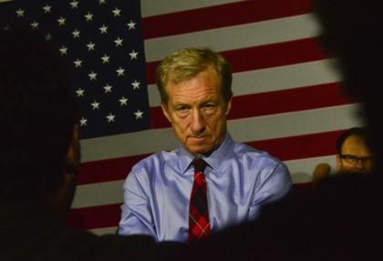 The Latest: Supporter breakfast part of Steyer's debate prep