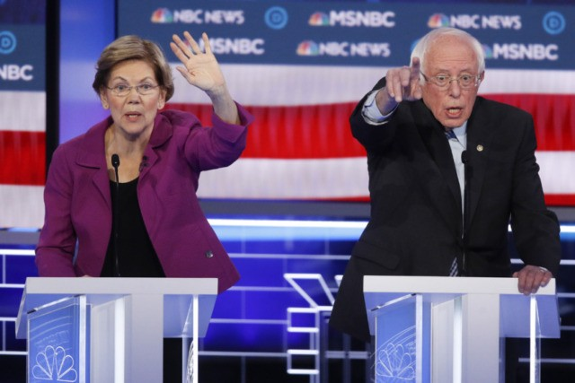 The Latest: Warren's fiery debate pays off in donations