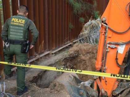 Yuma Sector Border Patrol agents find a tunnel under the border wall near San Luis, Arizona. (Photo: U.S. Border Patrol)