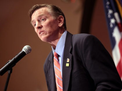 U.S. Congressman Paul Gosar speaking at the 2015 Teenage Republicans Banquet at the Scottsdale Plaza Resort in Paradise Valley, Arizona.