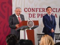Mexican President Andrés Manuel López Obrador stands near Hidalgo Governor Omar Fayad during a March 18, 2020, press conference. Fayad later tested positive for COVID-19. (Photo: Office of the President of Mexico)