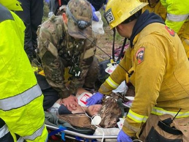 San Diego Sector Border Patrol agents and first responders attempt to save the life of a Mexican woman who became lost in the Southern California mountains after illegally entering the U.S. (Photo: U.S. Border Patrol/San Diego Sector)