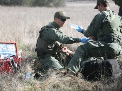 Border Patrol EMT training exercise.
