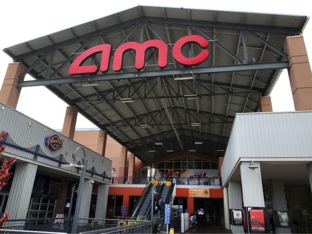 Entrance to AMC Bay Street 16 theater is seen on Wednesday, June 20, 2018, in Emeryville, Calif. AMC Theatres, the world's largest movie theater chain, on Wednesday unveiled a $20-a-month subscription service to rival the flagging MoviePass. (AP Photo/Ben Margot)