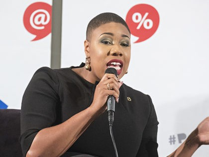 Symone Sanders attends Politicon at The Pasadena Convention Center on Sunday, Aug. 30, 2017, in Pasadena, Calif. (Photo by Colin Young-Wolff/Invision/AP)