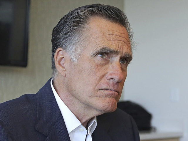 Sen. Mitt Romney, R-Utah, listens to reporters following a roundtable discussion at Intermountain Primary Children's Hospital with officials and health experts to receive an update on anti-vaping efforts Thursday, Oct. 10, 2019, in Salt Lake City. In his first public appearance since President Donald Trump unleashed a storm of insults …