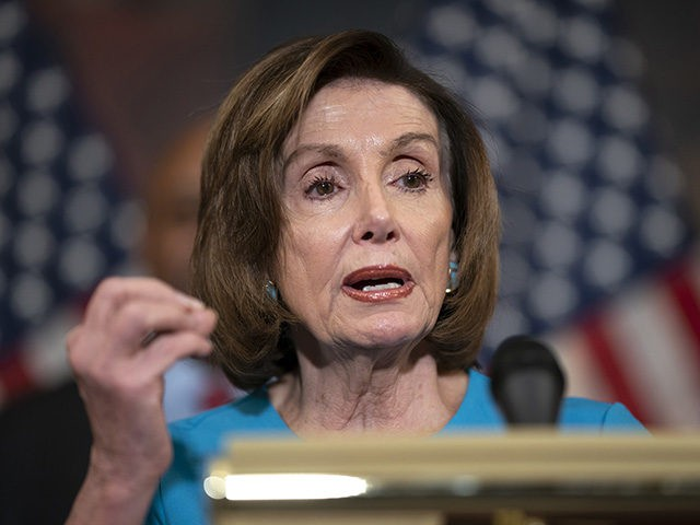 Speaker of the House Nancy Pelosi, D-Calif., talks about the need for a bigger federal role in school construction, on Capitol Hill in Washington, Tuesday, March 3, 2020. (AP Photo/J. Scott Applewhite)
