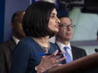 Administrator of the Centers for Medicare and Medicaid Services Seema Verma, speaks during a news conference about the coronavirus in the James Brady Briefing Room at the White House, Saturday, March 14, 2020, in Washington. (AP Photo/Alex Brandon)