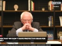Bernie Sanders touches face (Screenshot / YouTube)
