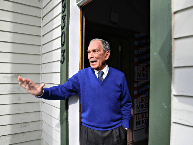 MANASSAS, VA - MARCH 02: Democratic presidential candidate, former New York City mayor Mike Bloomberg waves to supporters during a stop at one of his campaign offices on March 2, 2020 in Manassas, Virginia. Bloomberg is campaigning before voting starts tomorrow on Super Tuesday, March 3. (Photo by Joe Raedle/Getty …