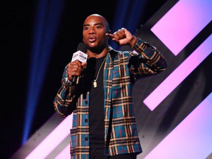 BURBANK, CALIFORNIA - JANUARY 18: Charlamagne tha God speaks onstage during the 2019 iHeartRadio Podcast Awards Presented By Capital One at iHeartRadio Theater on January 18, 2019 in Burbank, California. (Photo by JC Olivera/Getty Images)