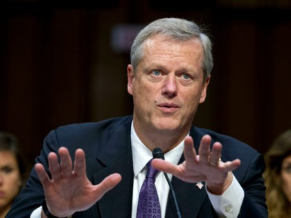 "In this Sept. 7, 2017, file photo, Massachusetts Governor Charlie Baker speaks at the Senate Health, Education, Labor, and Pensions Committee hearing to discuss ways to stabilize health insurance markets​, on Capitol Hill in Washington. Some lawmakers, activists and medical groups in Massachusetts are pushing for the creation of ""supervised …"
