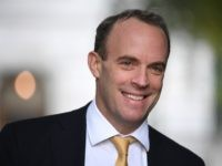 LONDON, ENGLAND - OCTOBER 22: Britain's Foreign Secretary and First Secretary of State Dominic Raab arrives in Downing Street on October 22, 2019 in London, England. Prime Minister Boris Johnson published his Withdrawal Agreement Bill last night and will today attempt to keep to his Brexit schedule as he aims …