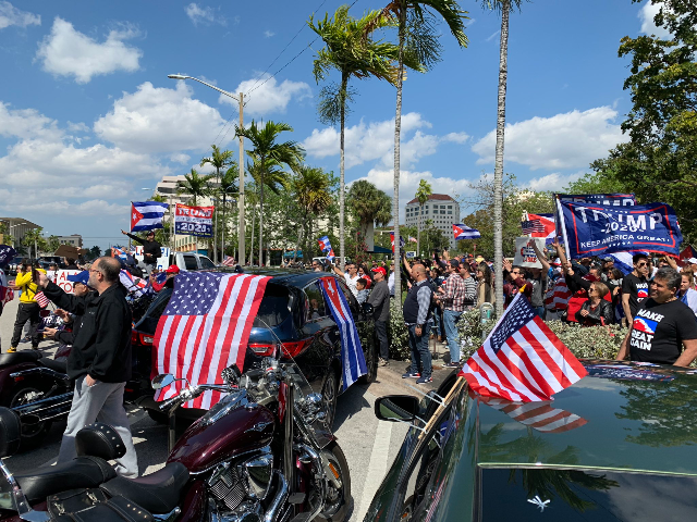 """It was a pleasure to participate in """"La Caravana por la Libertad"""" in a protest against the Cuban dictatorship and their continuous violations of human rights. A big shoutout to Alexander Otaola for organizing such an amazing event! ¡Viva Cuba Libre! 🇺🇸🇨🇺"""