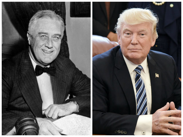 UNITED STATES: An undated portrait of US President Franklin D. Roosevelt. (Photo credit should read AFP/AFP via Getty Images) WASHINGTON, DC - APRIL 27: (AFP OUT) U.S. President Donald Trump looks on after signing a Memorandum on Aluminum Imports and Threats to National Security in the Oval Office on April …