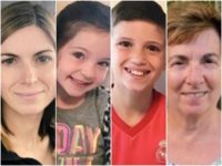 Julie Smith, 41, Scarlett Smith, 5, Jaxson Smith, 11, and Josephine Fay, 76