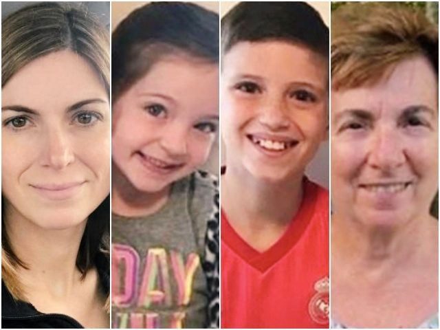 Julie Smith, 41, Scarlett Smith, 5, Jaxson Smith, 11, and Josephine Fay, 76
