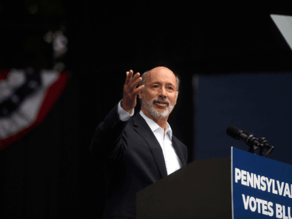 Pennsylvania Governor Tom Wolf addresses supporters before former President Barack Obama speaks during a campaign rally for statewide Democratic candidates on September 21, 2018 in Philadelphia, Pennsylvania. Midterm election day is November 6th. (Photo by Mark Makela/Getty Images)