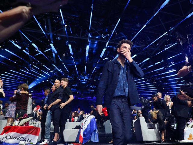 TEL AVIV, ISRAEL - MAY 18: Duncan Laurence of The Netherlands during the 64th annual Eurovision Song Contest held at Tel Aviv Fairgrounds on May 18, 2019 in Tel Aviv, Israel. (Photo by Guy Prives/Getty Images)