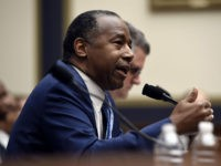 US Secretary of the Department of Housing and Urban Development Ben Carson testifies before a House Financial Services Committee hearing, on Capitol Hill, October 22, 2019 in Washington, DC. (Photo by Olivier Douliery / AFP) (Photo by OLIVIER DOULIERY/AFP via Getty Images)