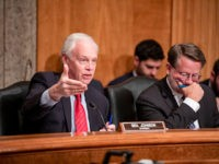 WASHINGTON, DC - DECEMBER 18: Committee Chairman Ron Johnson (R-WI) questions Department of Justice Inspector General Michael Horowitz during a Senate Committee On Homeland Security And Governmental Affairs hearing at the US Capitol on December 18, 2019 in Washington, DC. Last week the Inspector General released a report on the …