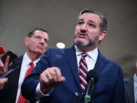 US Senator from Texas, Ted Cruz speaks to the media during a recess in the impeachment trial of US President Donald Trump at the US Capitol in Washington, DC on January 27, 2020. - White House lawyers were to resume their defense of President Donald Trump at his Senate impeachment …