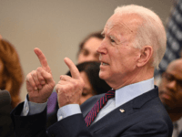 Democratic presidential hopeful Joe Biden gestures as he delivers remarks in Los Angeles, California, March 4, 2020. - Joe Biden reclaimed frontrunner status in the race for the Democratic presidential nomination after notching up stunning Super Tuesday primary victories. (Photo by Robyn Beck / AFP) (Photo by ROBYN BECK/AFP via …