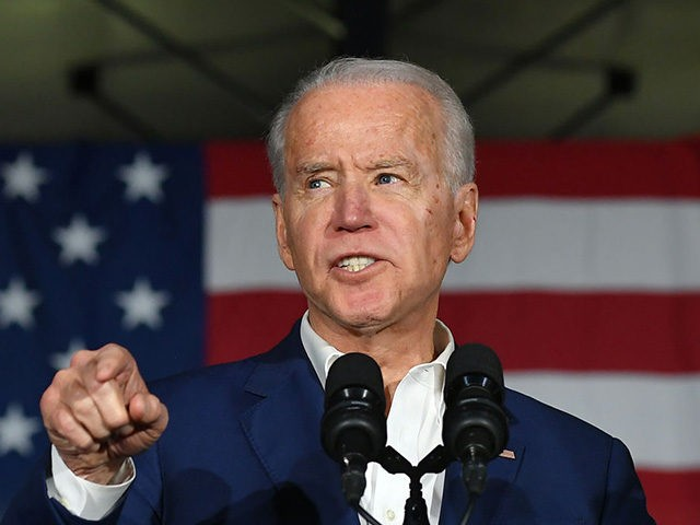 Democratic presidential candidate Joe Biden speaks during a rally at Tougaloo College in Tougaloo, Mississippi on March 8, 2020. (Photo by MANDEL NGAN / AFP) (Photo by MANDEL NGAN/AFP via Getty Images)