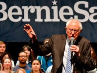 Democratic presidential hopeful Senator Bernie Sanders speaks at a Bernie 2020 rally at the Stifel Theater in downtown St.Louis, Missouri on March 9,2020. - Former vice president Joe Biden received the backing of another former rival for the Democratic presidential nomination on March 9, 2020 ahead of a crucial head-to-head …