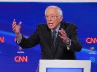 Democratic presidential hopeful Vermont Senator Bernie Sanders participates in the 11th Democratic Party 2020 presidential debate in a CNN Washington Bureau studio in Washington, DC on March 15, 2020. (Photo by MANDEL NGAN / AFP) (Photo by MANDEL NGAN/AFP via Getty Images)