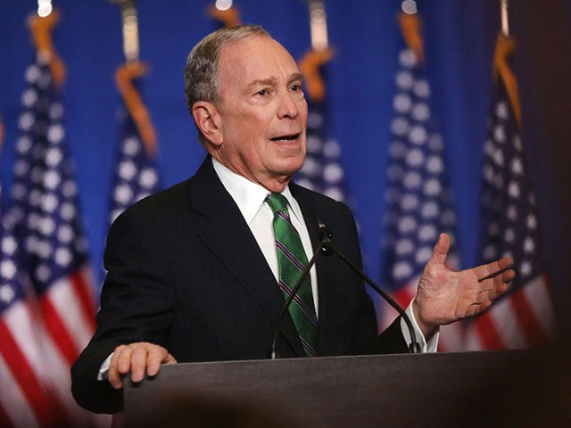 NEW YORK, NEW YORK - MARCH 04: Former Democratic presidential candidate Mike Bloomberg addresses his staff and the media after announcing that he will be ending his campaign on March 04, 2020 in New York City. Bloomberg, who has endorsed Joe Biden, spent millions of dollars in his short lived …