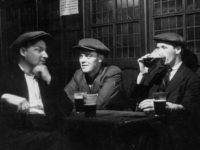 26th September 1942: Men drinking in the Prospect of Whitby pub in London. Original Publication: Picture Post - 1230 - A Quiet Evening In A Riverside Pub - pub. 1942 (Photo by Kurt Hutton/Picture Post/Hulton Archive/Getty Images)