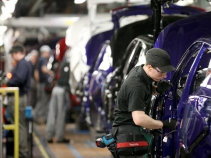 SUNDERLAND, ENGLAND - JANUARY 22: The new Nissan Qashqai is produced on the assembly line at the Nissan Sunderland plant on January 22, 2014 in Sunderland, England. The Qashqai is designed, engineered and manufactured in the UK and was unveiled in November 2013. The Tyne and Wear plant has now …