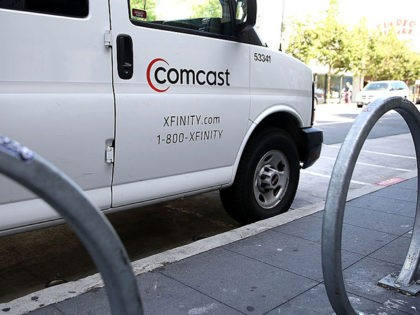 SAN FRANCISCO, CA - JULY 13: A Comcast service vehicle is seen parked on July 13, 2015 in San Francisco, California. Comcast announced plans to launch a streaming video service later this summer for Xfinity internet subscibers. The service called Stream will cost $15 a month. (Photo by Justin Sullivan/Getty …