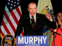 New Jersey Gov.-elect Phil Murphy speaks at an election night rally on November 7, 2017 in Asbury Park, New Jersey. Murphy was projected an early winner over Republican Lt. Gov. Kim Guadagno. (Photo by Eduardo Munoz Alvarez/Getty Images)