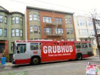 GrubHub bus ad