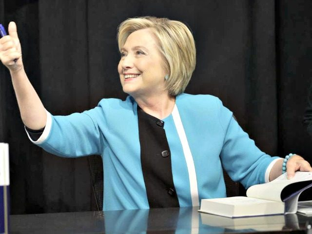 Hillary Clinton Reading a Book