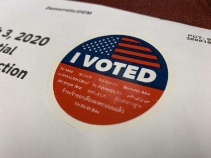 Mail-in ballot (Joel Pollak / Breitbart News)