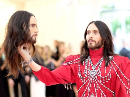 NEW YORK, NEW YORK - MAY 06: Jared Leto attends The 2019 Met Gala Celebrating Camp: Notes on Fashion at Metropolitan Museum of Art on May 06, 2019 in New York City. (Photo by Dimitrios Kambouris/Getty Images for The Met Museum/Vogue)