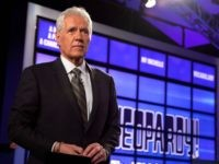 """YORKTOWN HEIGHTS, NY - JANUARY 13: Host of """"Jeopardy!"""" Alex Trebek attends a press conference to discuss the upcoming Man V. Machine """"Jeopardy!"""" competition at the IBM T.J. Watson Research Center on January 13, 2011 in Yorktown Heights, New York. (Photo by Ben Hider/Getty Images)"""