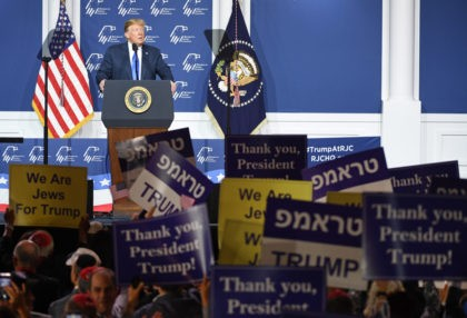 LAS VEGAS, NEVADA - APRIL 06: U.S. President Donald Trump speaks during the Republican Jewish Coalition's annual leadership meeting at The Venetian Las Vegas on April 6, 2019 in Las Vegas, Nevada. Trump has cited his moving of the U.S. embassy in Israel to Jerusalem and his decision to pull …