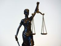 Justice statue (Ina Fassbender / AFP / Getty)
