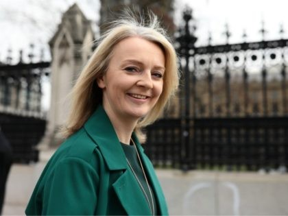 LONDON, ENGLAND - MARCH 28: Chief Secretary to the Treasury Elizabeth Truss arrives at the Houses of Parliament on March 28, 2019 in London, England. None of the eight proposals put to the vote in the House of Commons as an alternative to Theresa May's Brexit Deal secured clear backing …